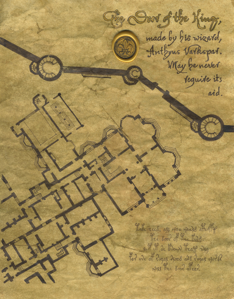King Kelman's map from The False Princess